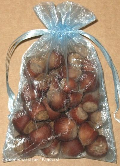 подарочные мешочки из органзы светло-голубого цвета, фото