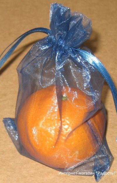 фото: цвет королевский синий, мешки из органзы / интернет-магазин Радость