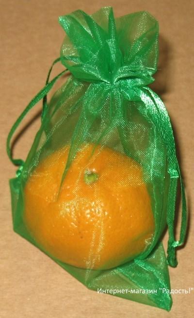 фото: зелёные мешки из органзы / интернет-магазин Радость