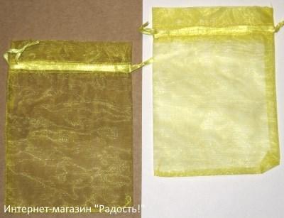 фото: мешочки из органзы, цвет лимонный