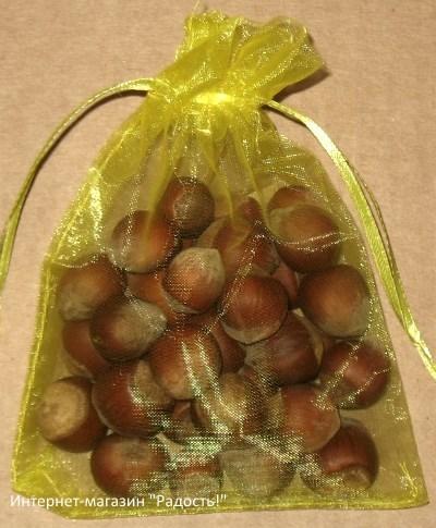 подарочные мешочки из органзы лимонного цвета, фото