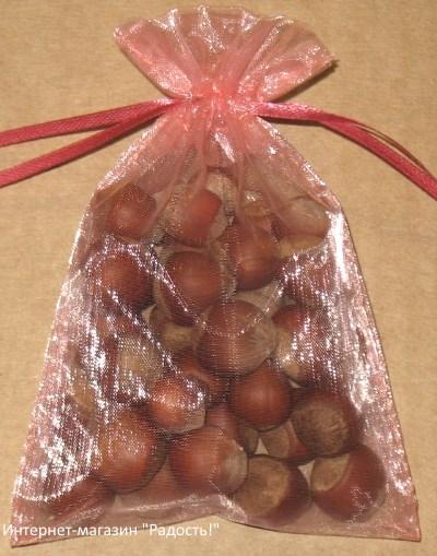 подарочные мешочки из органзы кораллового цвета, фото