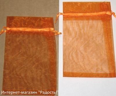 фото: мешочки из органзы, цвет оранжевый