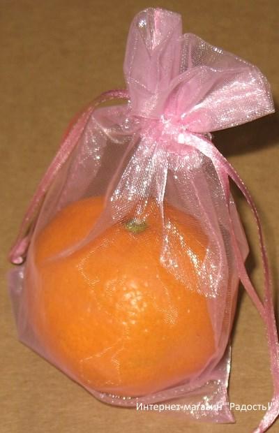 фото: розовые мешки из органзы / интернет-магазин Радость