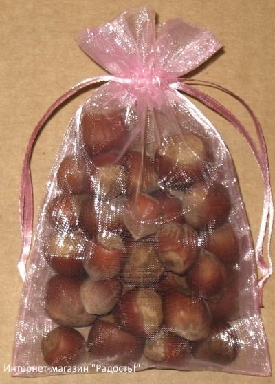 подарочные мешочки из органзы розового цвета, фото