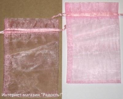 фото: мешочки из органзы, цвет светло-розовый