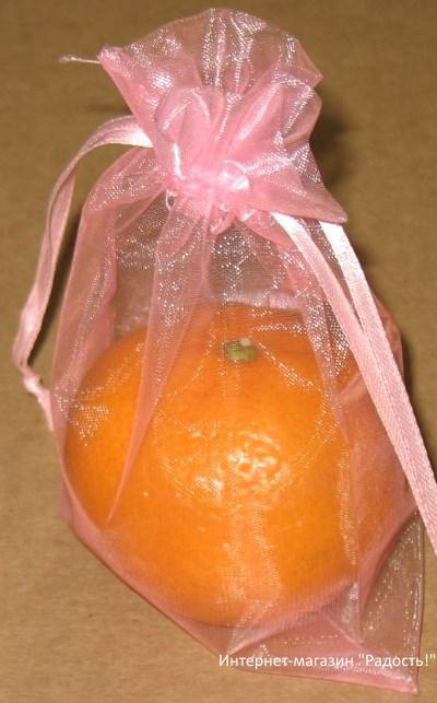 фото: светло-розовые мешки из органзы / интернет-магазин Радость