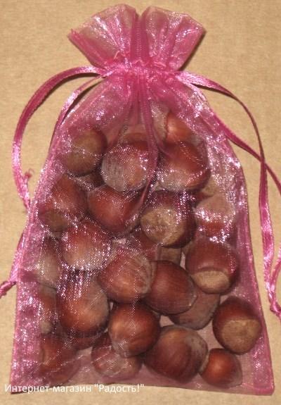 подарочные мешочки из органзы насыщенного розового цвета, фото