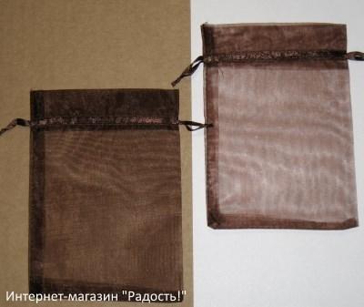 фото: мешочки из органзы, цвет коричневый / шоколадный