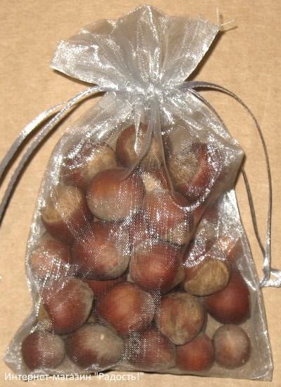 подарочные мешочки из органзы серебряного цвета, фото