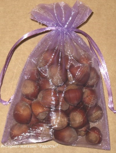 подарочные мешочки из органзы сиреневого цвета, фото