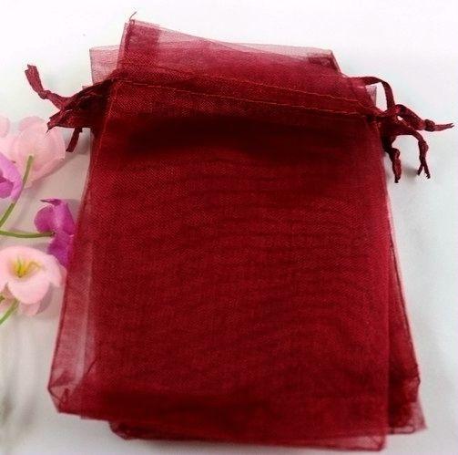 бордовые мешок из органзы 14*18 см