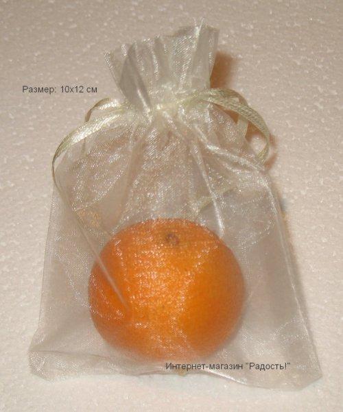 шифоновые мешки для подарков бежевого цвета