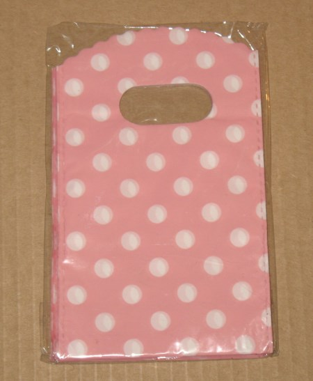 розовые в белый горошек палстиковые пакеты для мыла ручной работы