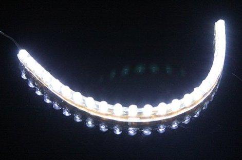 6010. Белая светодиодная лента в силиконовом корпусе, 24 светодиода, 12 Вольт / светодиодная подсветка
