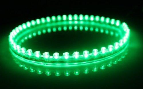 6011. Зелёная светодиодная лента в силиконовом корпусе, 48 светодиодов, 12 Вольт, водостойкая / светодиодная подсветка