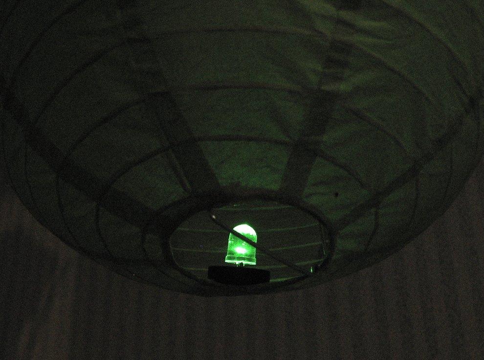 размещение подсветки внутри фонарика снизу