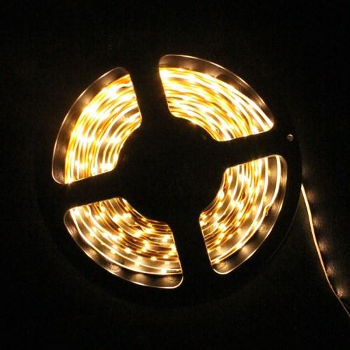 Светодиодная лента 3528 5 метров, цвета белый тёплый