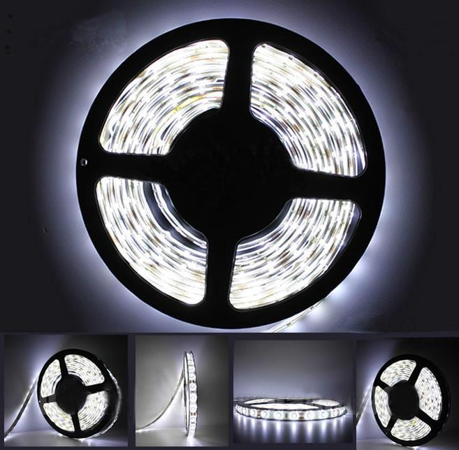 светодиодная лента, не влагозащищённая, 600 светодиодов, цвет белый холодный