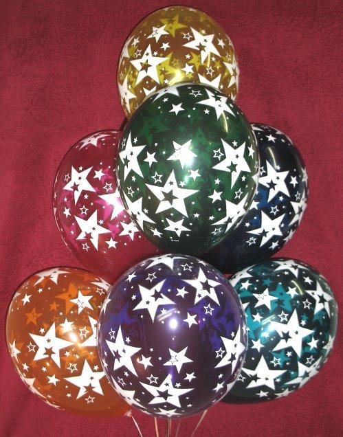 """Воздушные шарики """"Большие звёзды"""""""