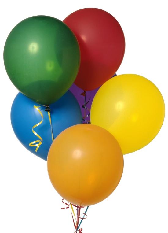 Набор из 12 разноцветных воздушных шариков, размер 35 см