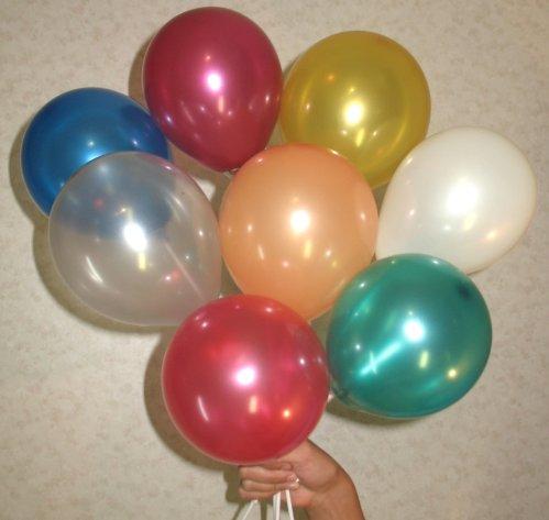 Воздушные шарики «Разноцветные виноградинки» (12 см)
