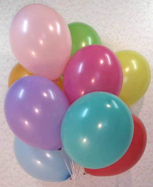 3.51: Набор из 10 воздушных шаров «Разноцветные солнышки» (30 см)