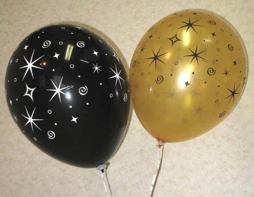 56. Оригинальные воздушные шарики, напоминающие сияющее-звёздное небо вечером и ночью