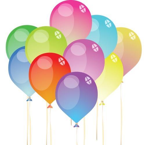 Набор из 10 воздушных шаров одного цвета