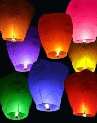 набор из 8 летающих фонариков