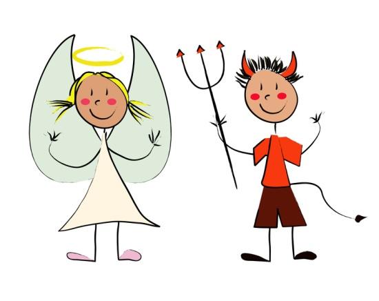 """Набор из 2 летающих небесных фонариков """"Ангел и Демон"""""""