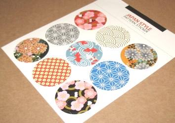 """Набор цветных стикеров """"Японский стиль"""", лот 9 шт"""