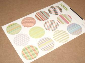набор цветных стикеров круглой формы