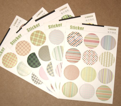 Набор круглых стикеров, вариант 2, лот 60 шт