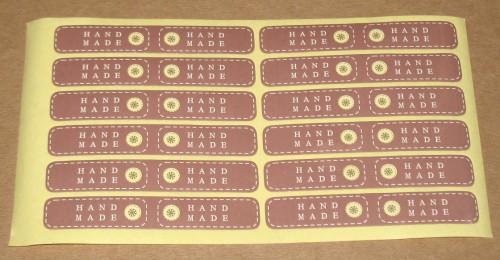 узкие двусторонние стикеры Handmade коричневого цвета