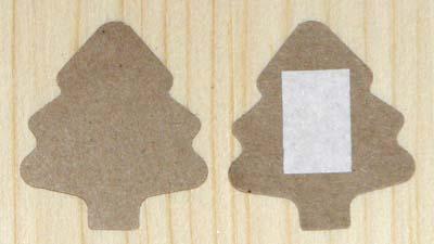 стикеры ёлочка из крафт-картона