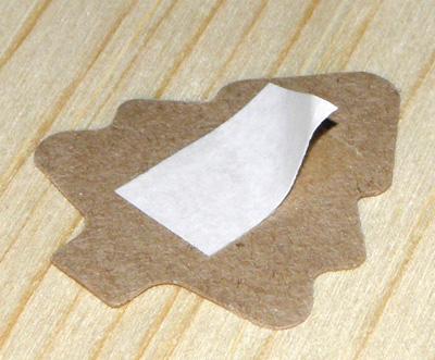 как отрывается защитный слой / стикеры ёлочка из крафт-картона
