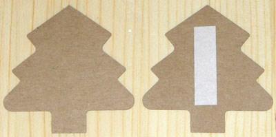 Ёлочка: большие стикеры из крафт-картона