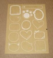 Фигурные стикеры из крафт-бумаги, лот 14 шт (1 лист)