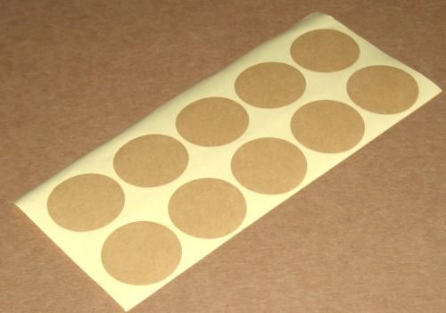 круглые стикеры из картона крафт