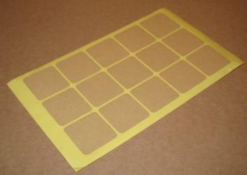 Квадратные стикеры из крафт-бумаги, размер 35*35 мм