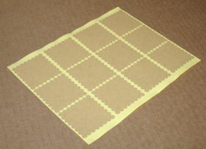 Квадратные стикеры с волнистым краем из крафт-бумаги, лот 10 шт