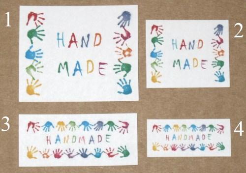 стикеры с надписью HANDMADE / наклейки