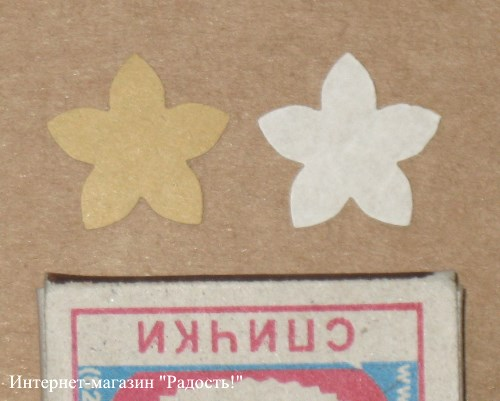 стикеры-наклейки Цветок из картона крафт / стикеры купить