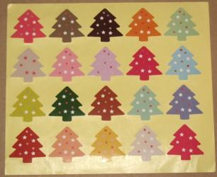 азноцветные новогодние стикеры