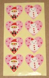 """Разноцветные стикеры """"Дед Мороз и снеговик"""""""
