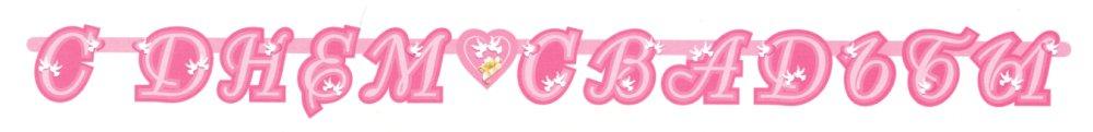 "баннер №2: ""С днём свадьбы"", розовый"