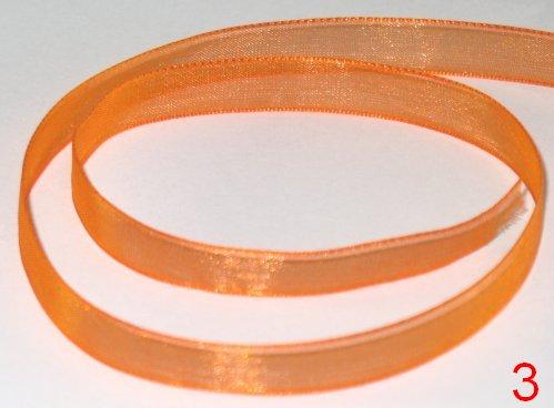 104. Оформительская лента из органзы оранжевого цвета шириной 9 мм / оформление подарков своими руками