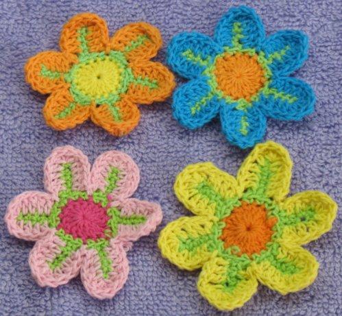 Цвета: синий+зелёный с... Вязаные из хлопковых ниток трёхтонные...