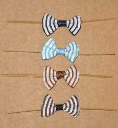 твисты с бантиками: тёмно-синий, голубой, шоколадный и чёрный